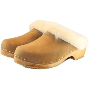 Traditional Heel Dark Tan Shearling