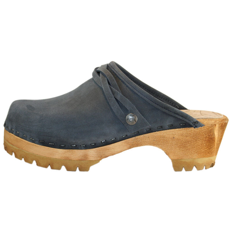 Denim Blue Mountain Clog with Braided Strap