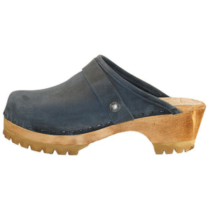 Denim Blue Mountain Clog with Snap Strap