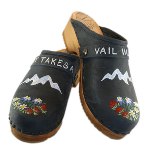 "Traditional Heel Special Edition ""It takes a Vail Valley"" Denim with your choice of Strap"