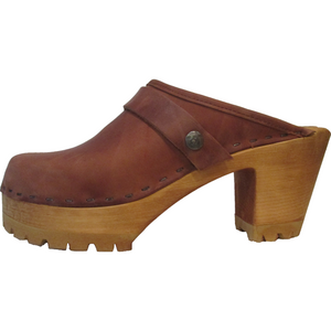 Dusty Cinnamon High Heel Mountain Clog