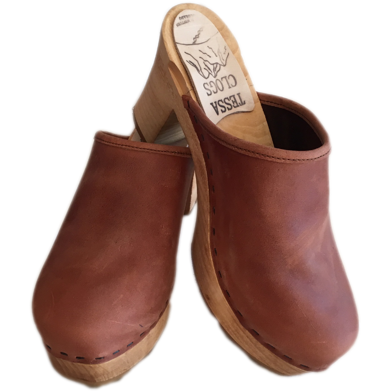 Ultimate High Clogs in Dusty Cinnamon