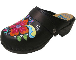 Flex Hand Painted Black Petra with choice of Snap-Strap
