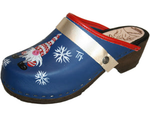 Flexible Tessa Clogs in a Christmas Design, Platinum Strap