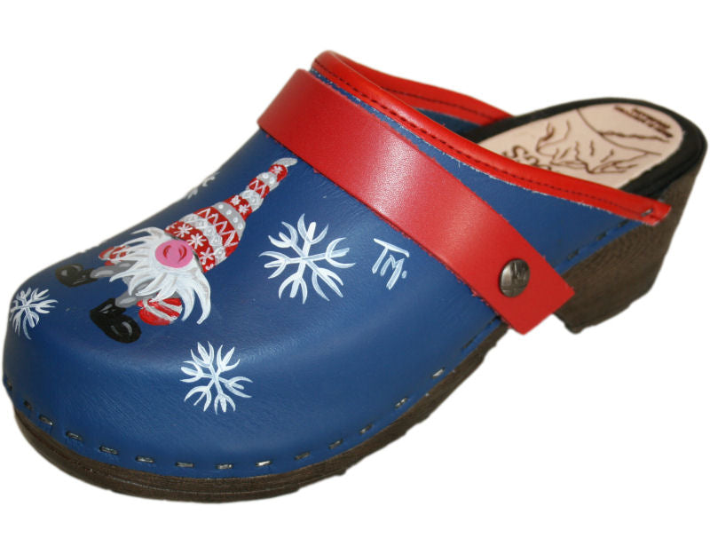 Flexible Tessa Clogs in a Christmas Design, Red Strap