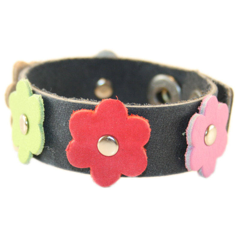 Tessa Flower Bracelet Black