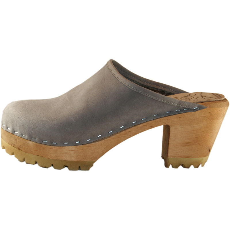 Steel Nubuck Mountain Sole High Heel Plain