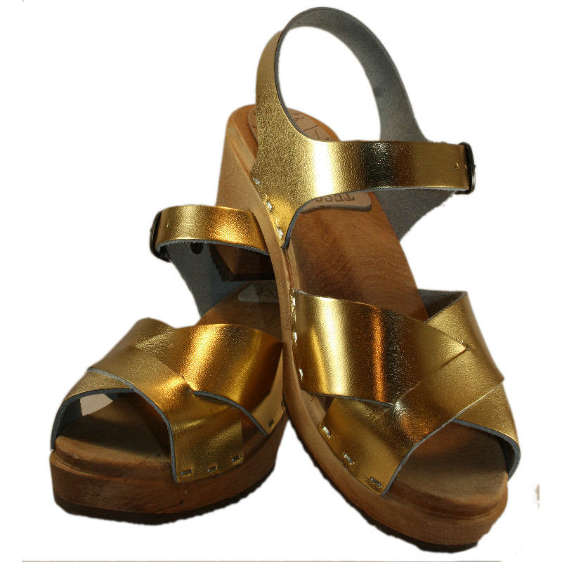 High Heel Heather in Gold Metallic Leather