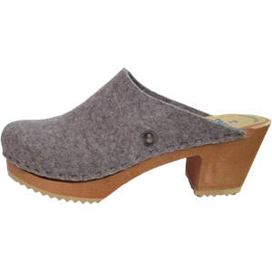 High Heel Felt Wool Granite