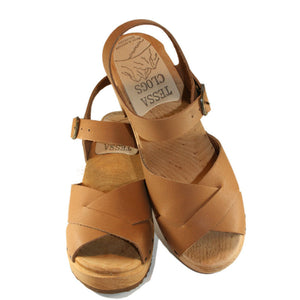 High Heel Heather Sandal in your choice of Oil Tanned Leather