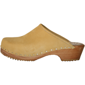 Honey Nubuck Clog, traditional swedish clog made in Colorado