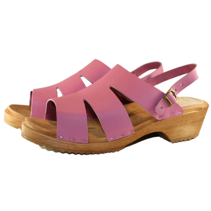 Traditional Heel Kristina Sandal in Hot Pink