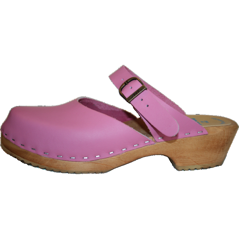 Tessa Traditional Heel Minna Sandal in Hot Pink