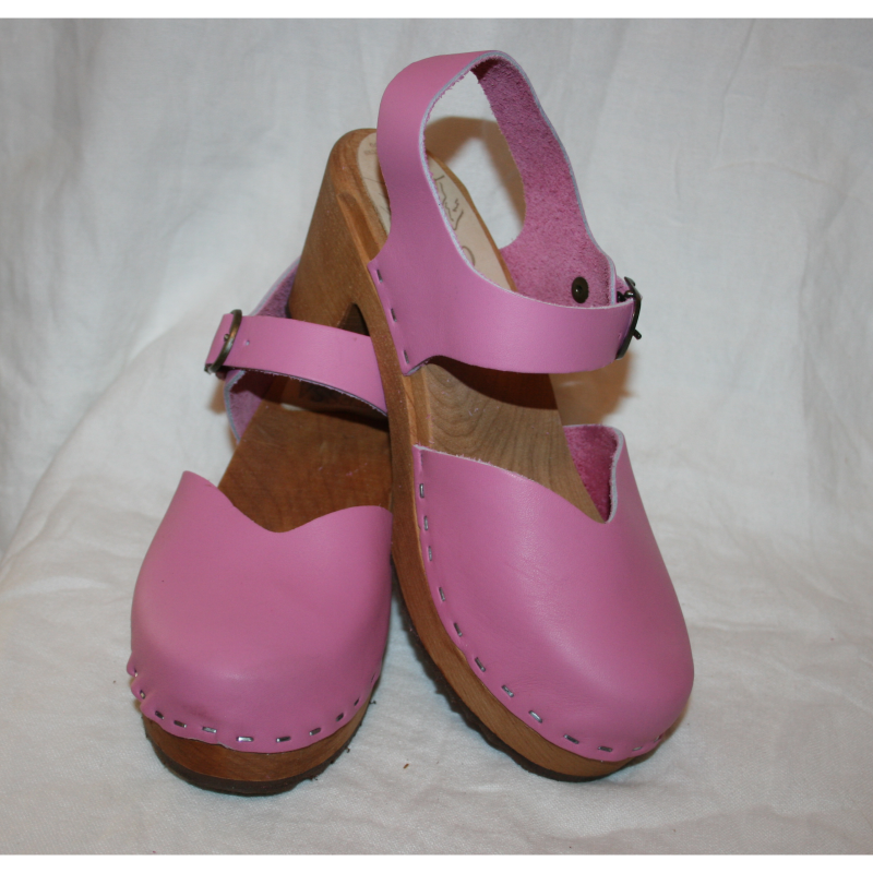 High Heel Closed Toe Hot Pink Moa Sandal