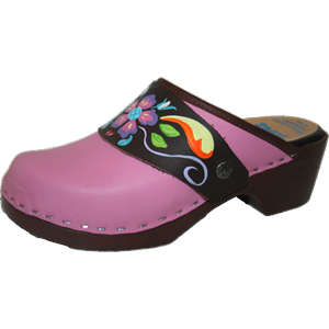 Tessa Pink Flex Clog with Brown Petra Strap
