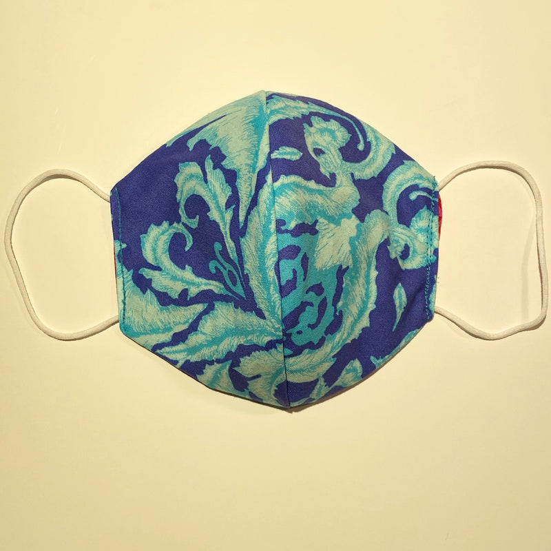 Tessa Reversible Face Mask Blue/Light Blue and Red/Pink