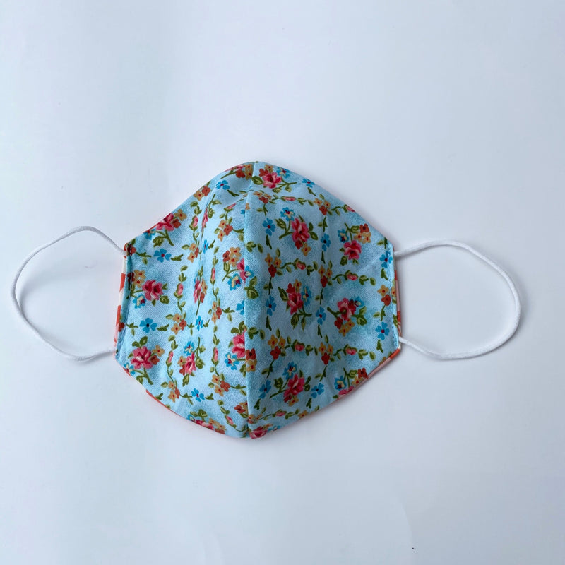 Tessa Reversible Face Mask Butterfly/Turquoise Floral