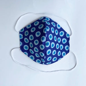 Tessa Reversible Face Mask Blue Van/Blue Dots