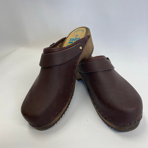 Traditional Heel Brown Oil Anna Heel strap size 37 - Factory Seconds
