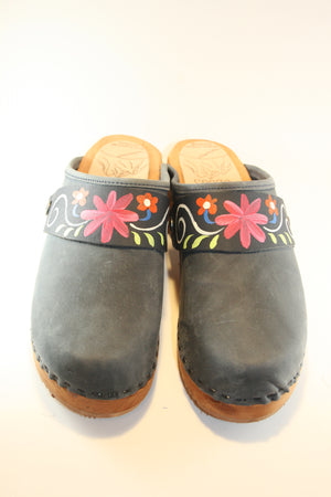 Traditional Heel Denim with Blue Patti Strap size 38 - Factory Seconds