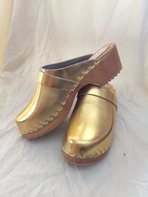 Gold Clogs