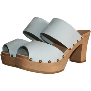 Ultimate High Two Strap Sandal in Ice Gray Nubuck