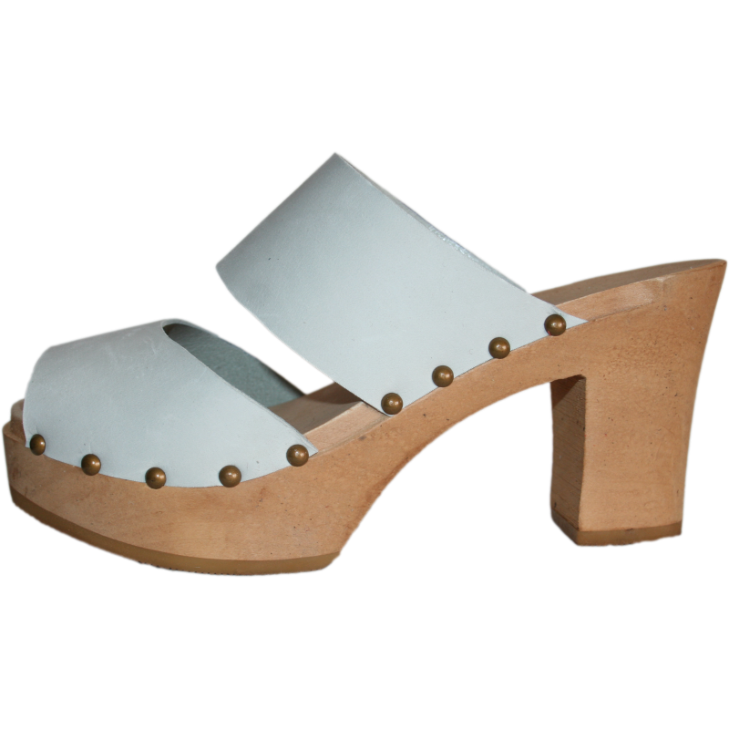 Ice Gray Nubuck Two Strap Ultimate High Sandal