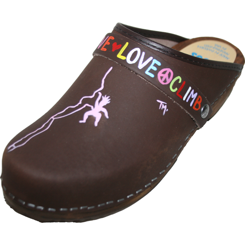 Traditional Heel Brown Oil Climber Girl