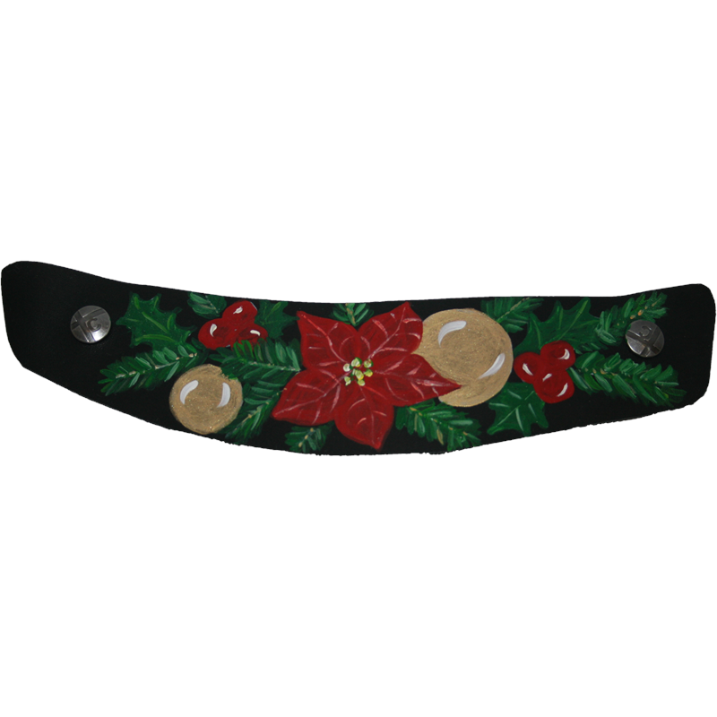 Wide Black Christmas Joy Snap Strap