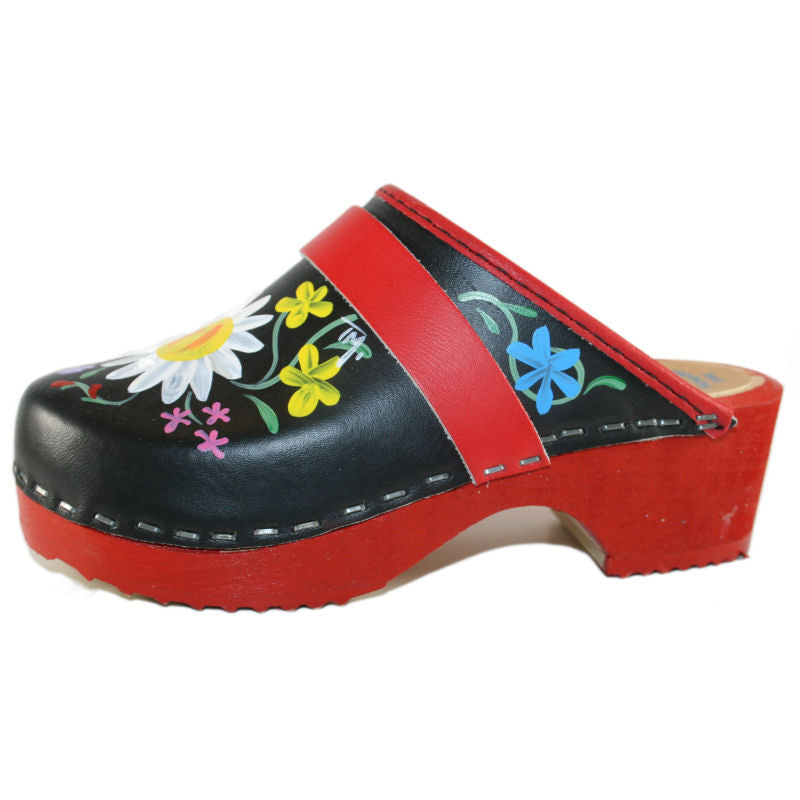 Tessa hand painted Kid's Aiden Clogs