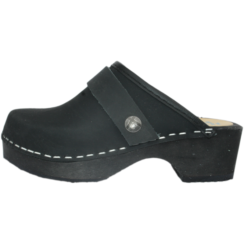 Tessa Children's Black Oil Clogs