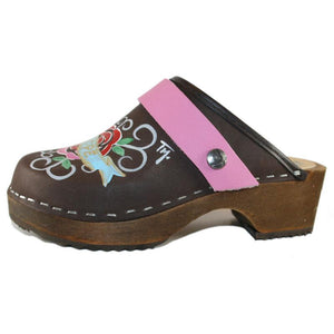 Tessa Kid's hand painted Peace & Hope Clogs