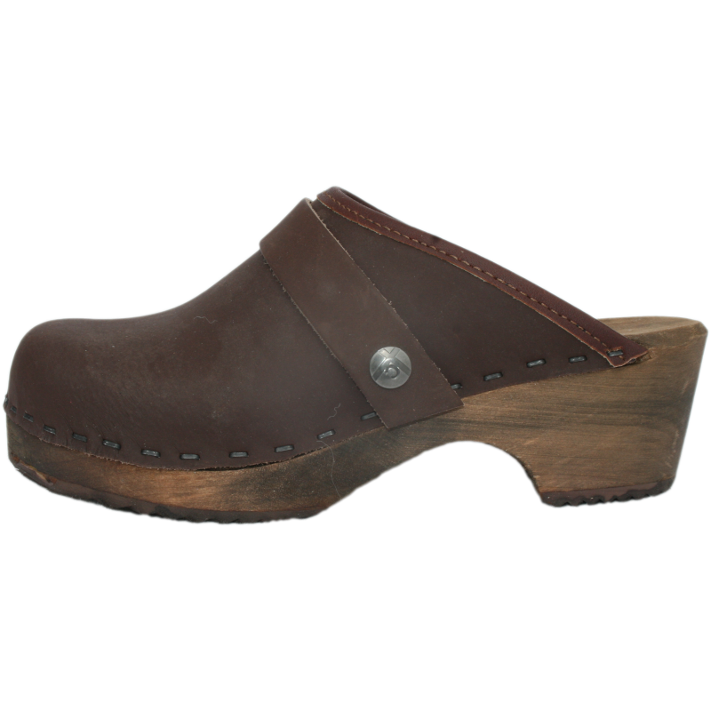 Tessa Children's Brown Oil Clogs