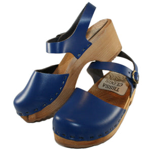 Tessa Children's Moa Sandal Clog in Blue