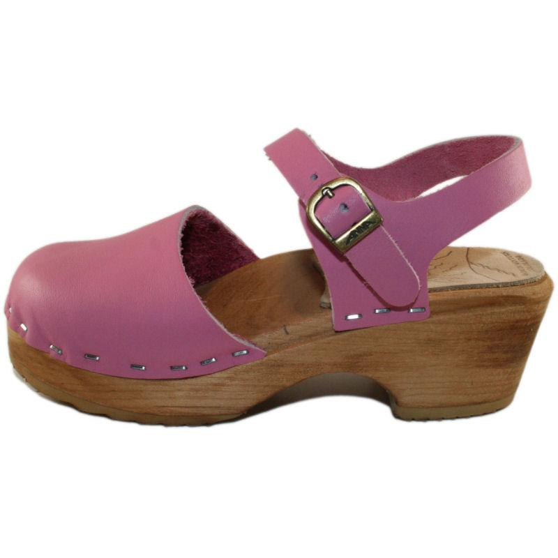 Tessa Children's Closed Toe Moa Sandal in Hot Pink