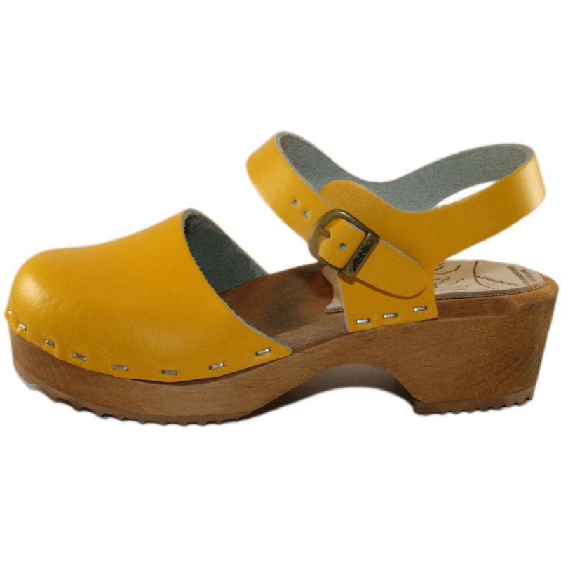 Tessa Children's Moa Sandal Clog in Yellow