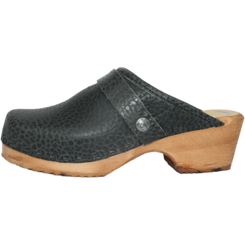 Tessa Children's Pebble Black Clogs