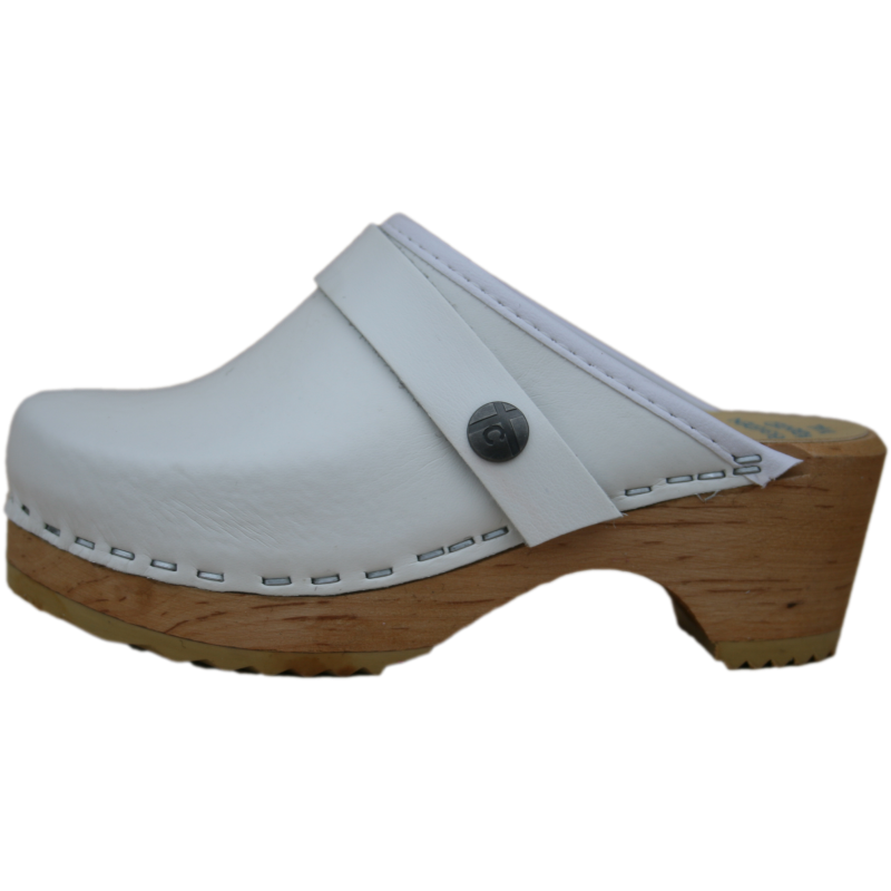 Tessa Children's White Clogs