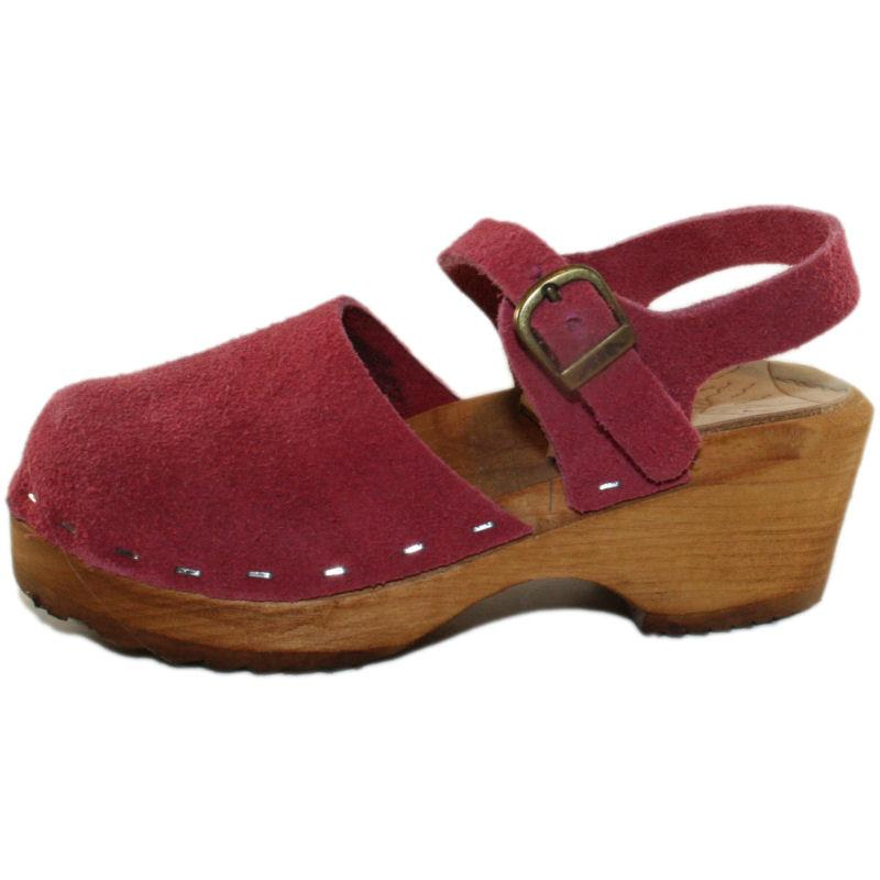 Children's Tessa Moa Sandal in Berry Suede