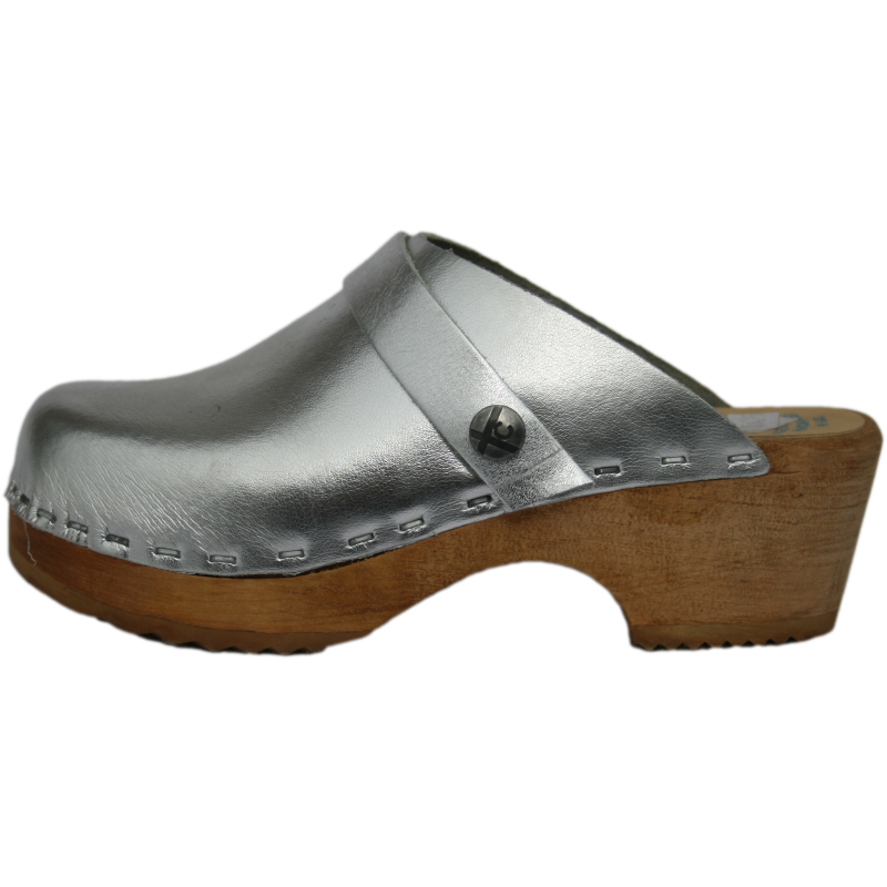 Children's Tessa Silver Clogs, available also in Gold, Bronze & Pewter
