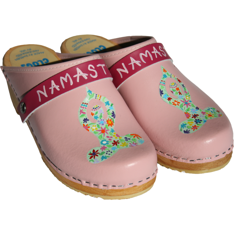 Light Pink Hand Painted Traditional Heel Namaste