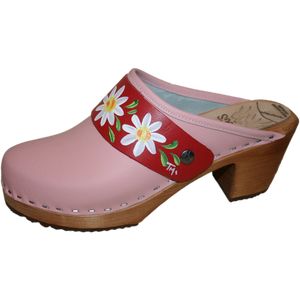 Tessaclog High Heel Hand painted Snap Strap
