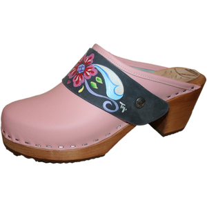 High Heel Light Pink with Denim Petra Strap