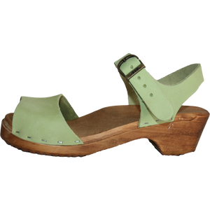 Traditional Heel Open Toe Malaina Sandal your choice of leather