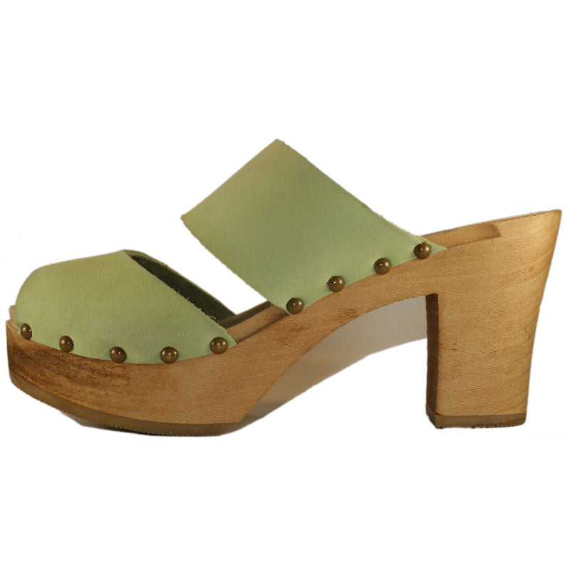 Lime Green Nubuck Ultimate High Two Strap Sandal