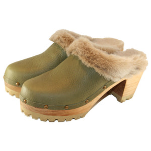 High Heel Mountain Sole Shearling Lined in your choice of Leather