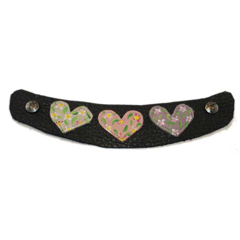 High Heel Granite Felt Wool with your choice of Hand Painted Heart Snap Strap