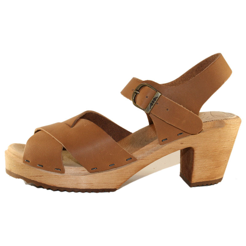 Nougat High Heel Heather Sandal