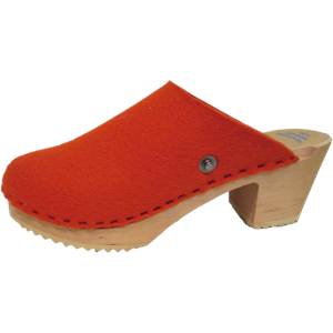 High Heel Felt Wool Orange