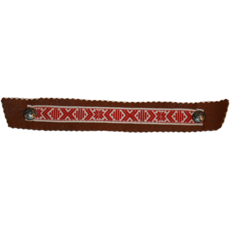 Scandinavian Red and White Ribbon Snap Strap